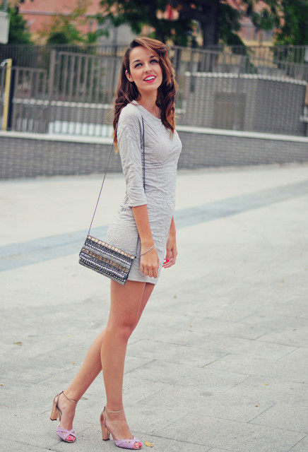 Grey trendy female dress 4