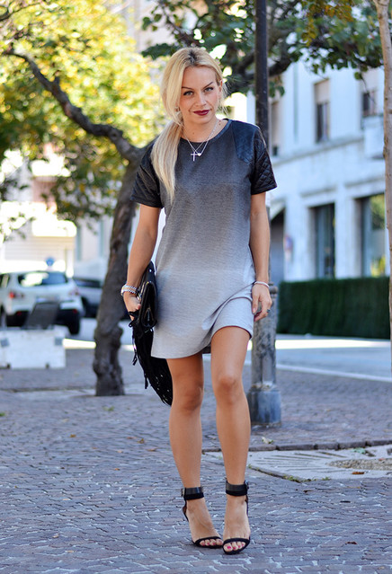Grey trendy female dress 5