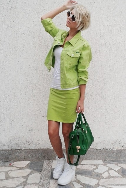 Stylish green female jackets  1