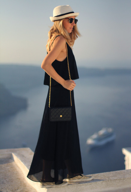 Trendy black female dress 1