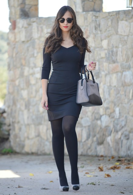 Trendy black female dress 3