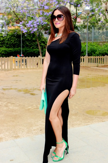 Trendy black female dress 4