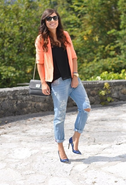 Trendy orange female jackets 1
