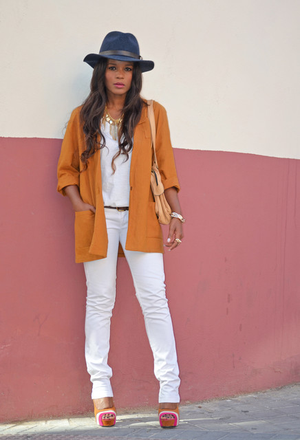 Trendy orange female jackets 2