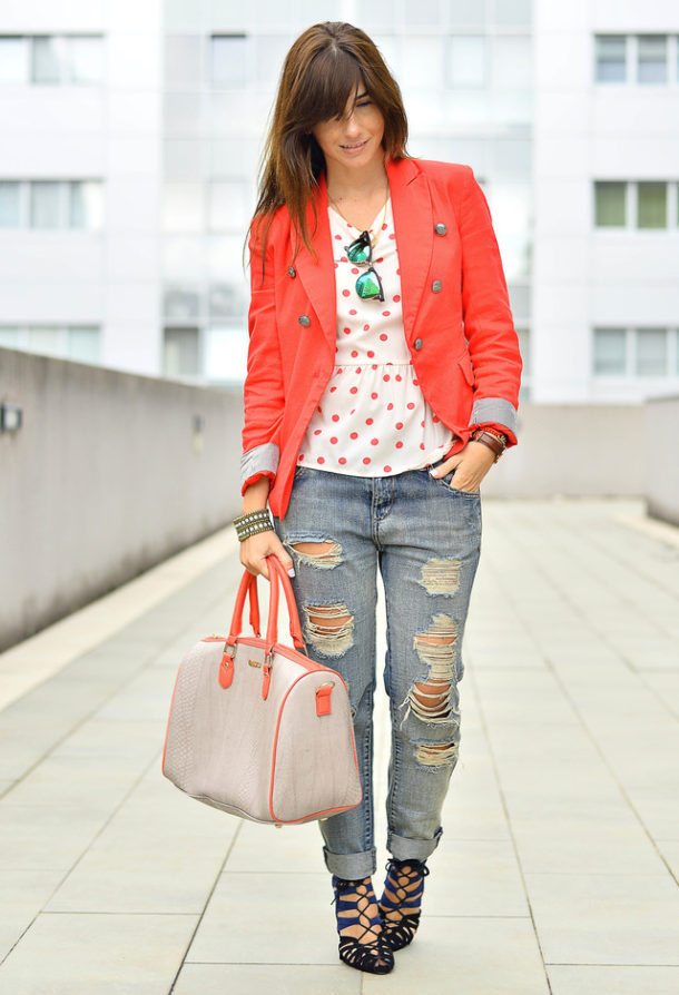 Trendy orange female jackets 3