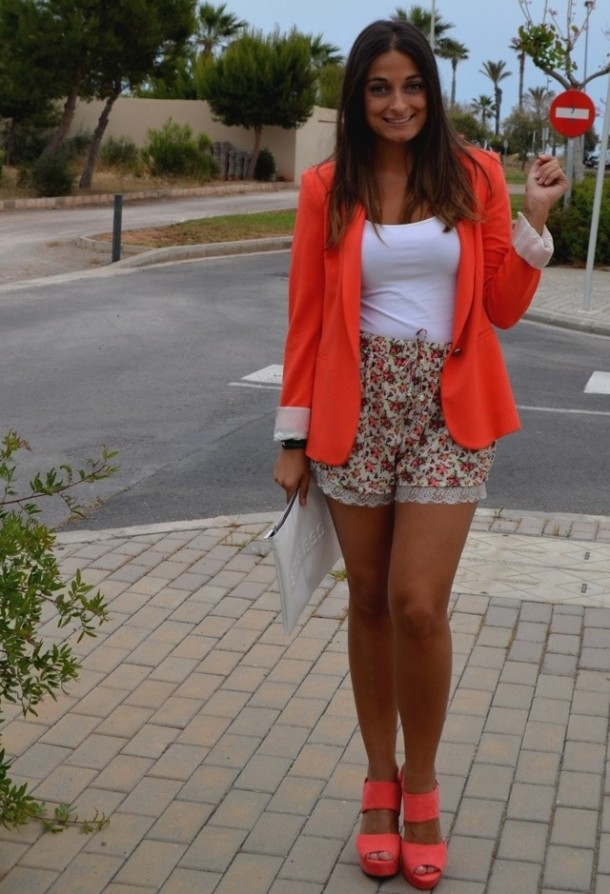 Trendy orange female jackets 4