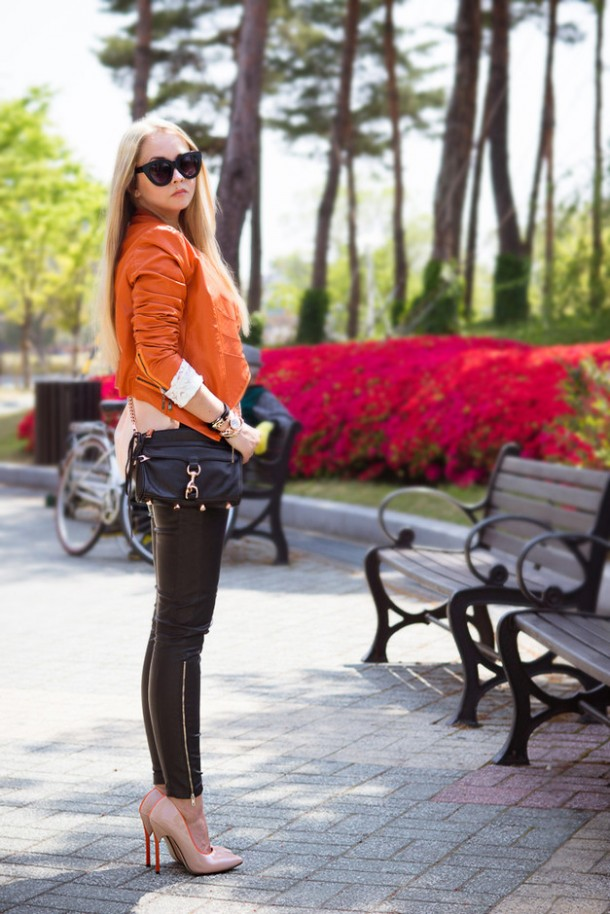 Trendy orange female jackets 5
