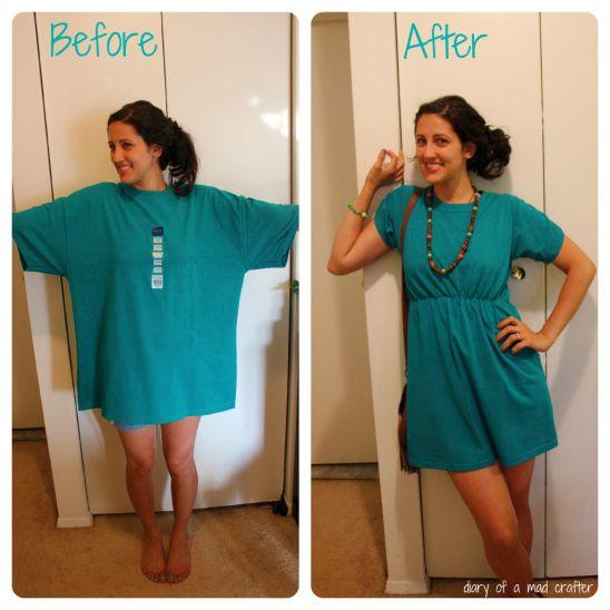 Как сделать платье из старых вещей своими руками