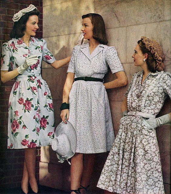 Как одевались в 40-е девушек