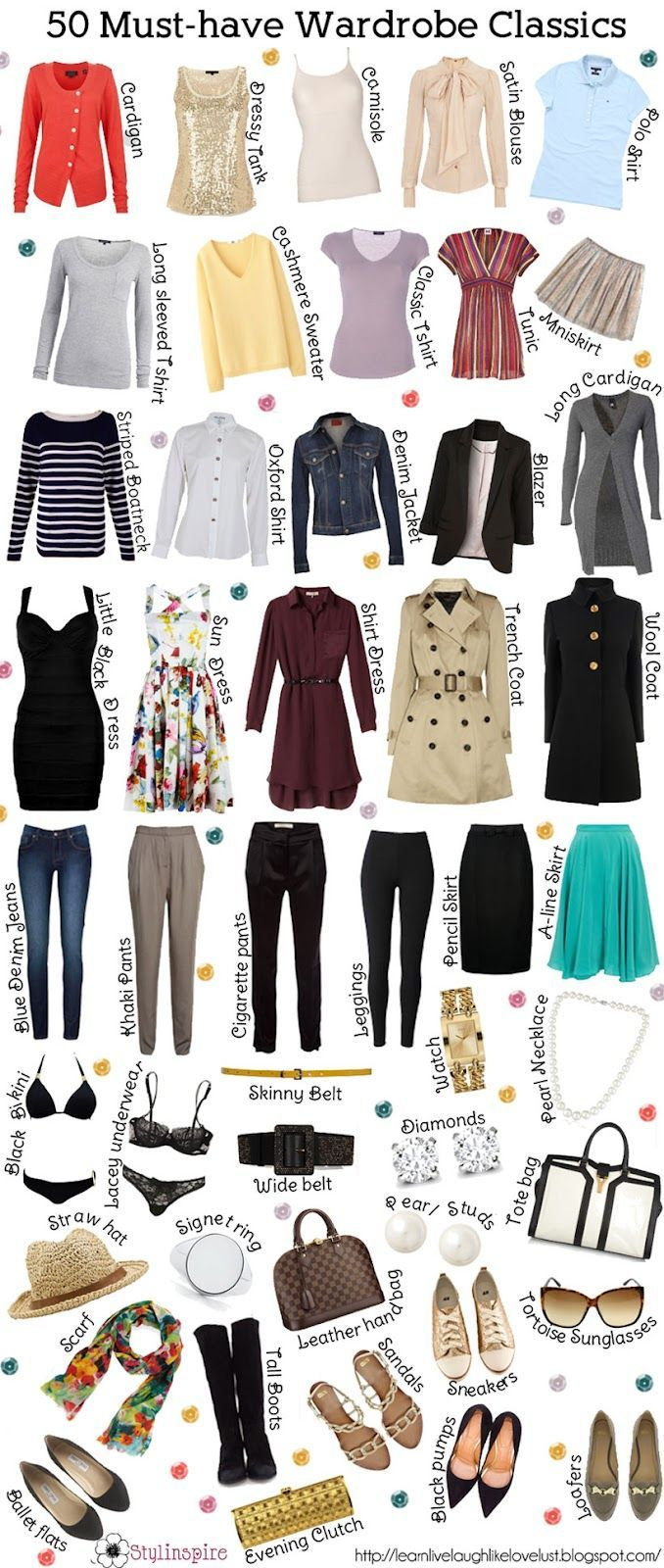 List of fashion items