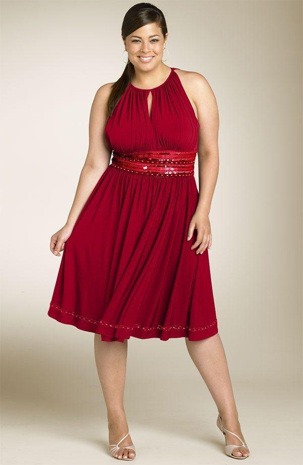 Фото толстых женщин в красивых платьях